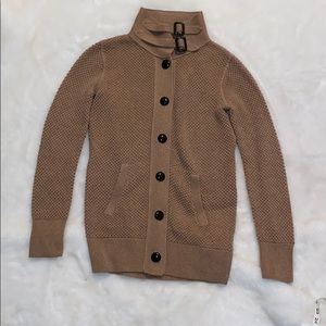 Jcrew crochet thick button sweater cardigan